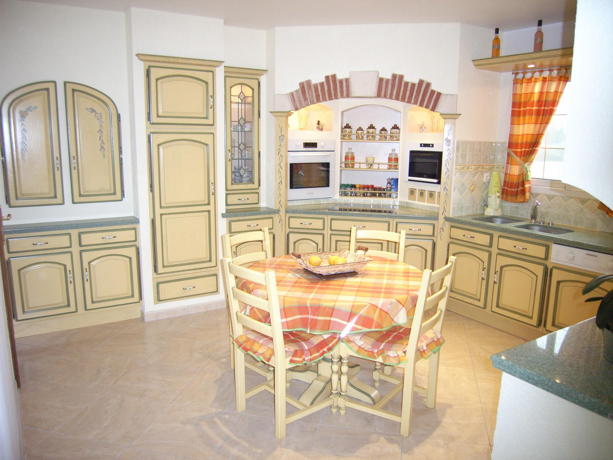 Acheter une cuisine de type proven ale sur mesure saint andr de cubzac fabricant de - Modele de cuisine provencale ...